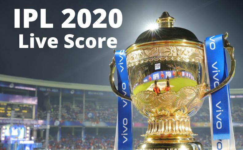 IPL 2020 | Live Score Update