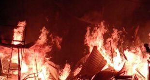 Caught Fire In Shops In Auraiya – औरैया: आग से पान की गुमटी और लकड़ी की दुकान जलकर राख, लाखों का नुकसान